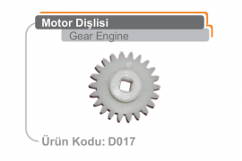 Motor Dişlisi D017