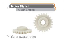 Motor Dişlisi D003